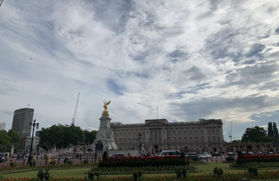 Buckingham palace on the london legal walk