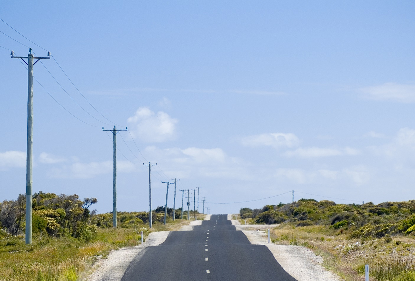 Image of a bumpy road going off into the distance